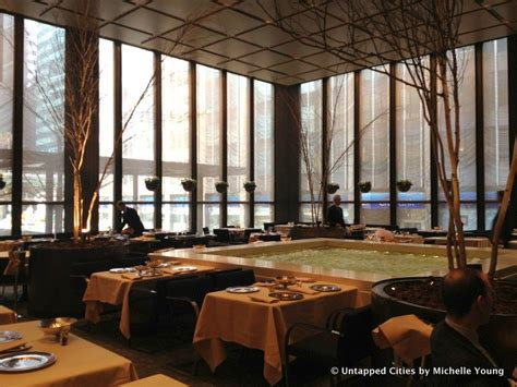 four seasons pool room inside the four seasons restaurant in the seagram building photos untapped cities
