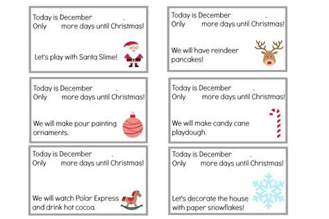 advent calendar card template advent calendar printable activity cards