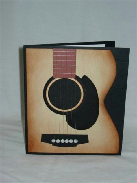 Guitar Cards - 82 best images about cards with panio or musical