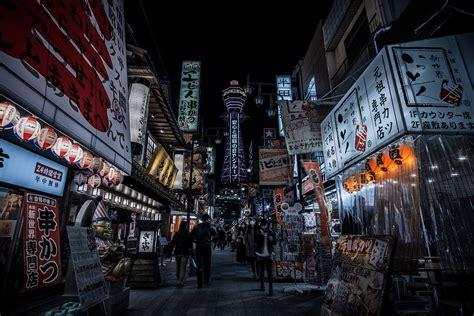 Osaka Part 1 Of 2 by Shinsekai Evening In Naniwa Osaka Sony A6000 Rokinon