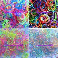 Refill Diy Rainbow Loom Bands Frozen Disney Jelly Transparan Colour 1 600 rainbow color loom rubber bands refill glow tie