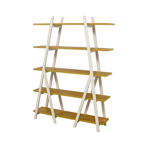 elm white bookcase white ladder shelf white build a leaning bathroom