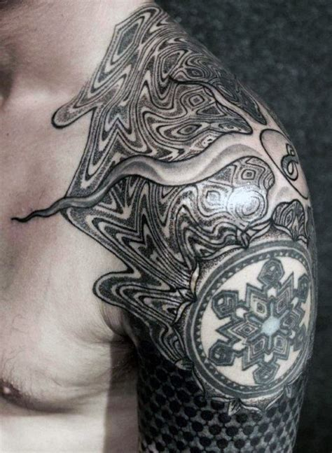 repeating pattern tattoo 80 fractal tattoo designs for men repeating geometry ink