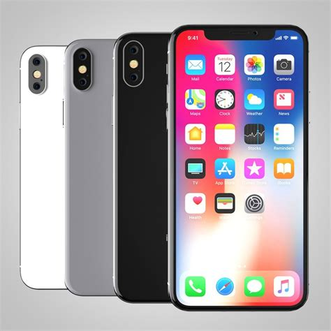 3 Iphone X Models by 3d Model Iphone X Turbosquid 1205555