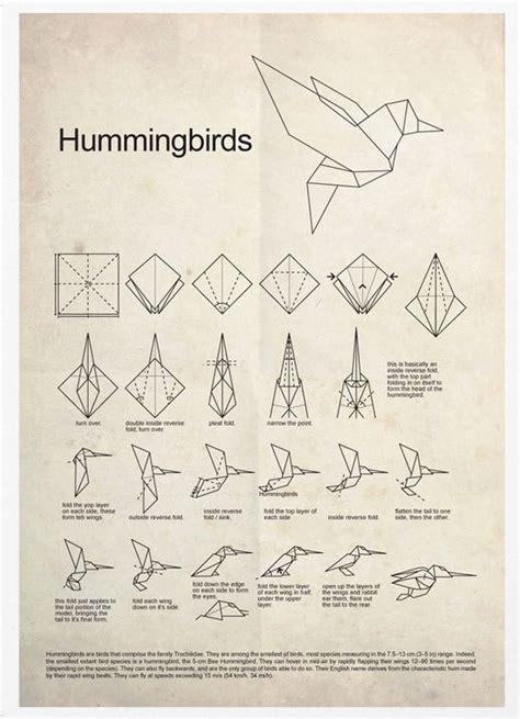 Origami Hummingbird Tutorial - hummingbird origami poster print colibr 237 s 193 ngel y p 225 jaros