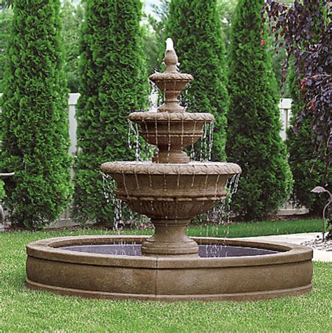 Picture Window Treatments by Chanticleer Fountain Traditional Outdoor Fountains And