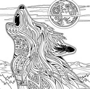 wolf coloring pages for adults wolf for coloring pages printable