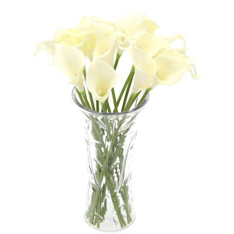 Single Stem Vase Ss 18x Artificial Calla Lily Flowers Single Long Stem