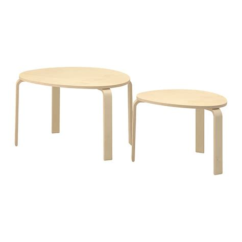 Nested Tables Svalsta Tables Gigognes Lot De 2 Plaqu 233 Bouleau Ikea