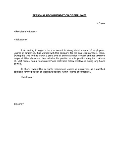 personal reference letters for employment military bralicious co