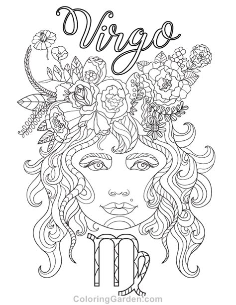 virgo color virgo pages coloring pages