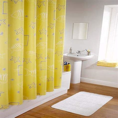 yellow bathroom curtains 10 yellow shower curtain designs rilane