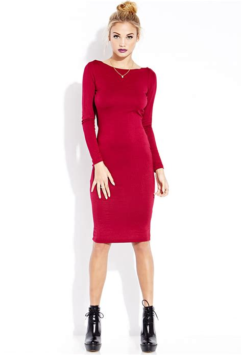 Frock Horror Of The Week Forever 21s Cowl Neck Dress by Forever 21 Striking Cowl Back Midi Dress In Pink Lyst