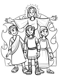 shadrach meshach and abednego coloring page shadrach meshach abednego coloring page