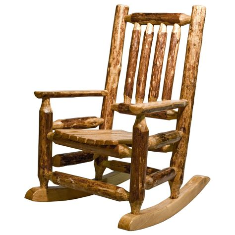 Glacier rustic child s rocking chair rustic log furniture by amish meadows
