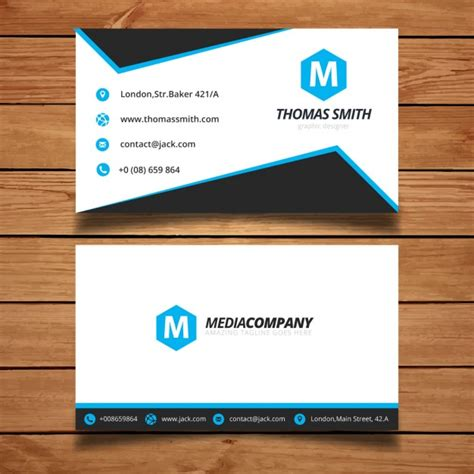 Visit Card Template Ai by Corporate Blue Visit Card Template Vector Free