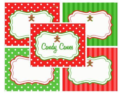 printable christmas tags for food christmas printable labels food label tents gingerbread