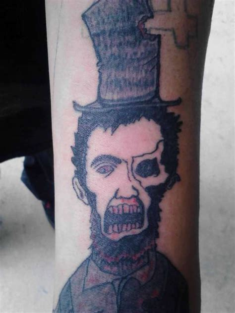 tattoo cover up lincoln zombie lincoln tattoo