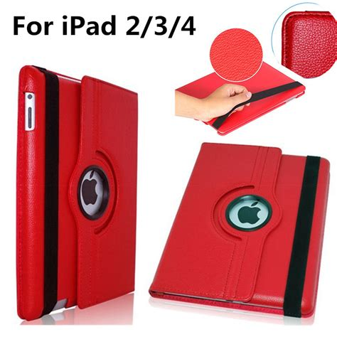 Casing 4 Cover 3 2 Rotate for apple 2 3 4 ipad2 ipad3 ipad4 9 7 inch tablet 360 rotating bracket flip stand
