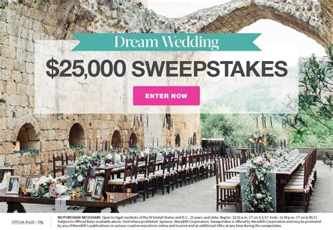 Martha Stewart Wedding Sweepstakes - dream weddings 25 000 sweepstakes martha stewart weddings
