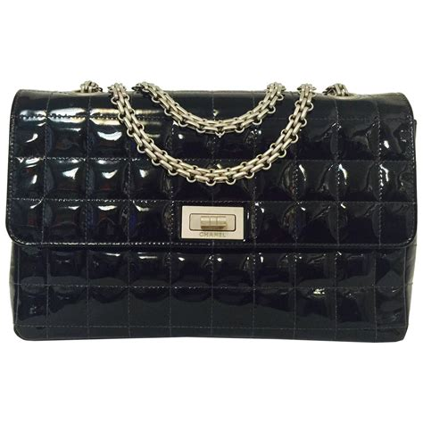 Chanel Flap Bag With Box 5018bsvc chanel box quilted black patent flap bag w mademoiselle lock 6059484 for sale at 1stdibs