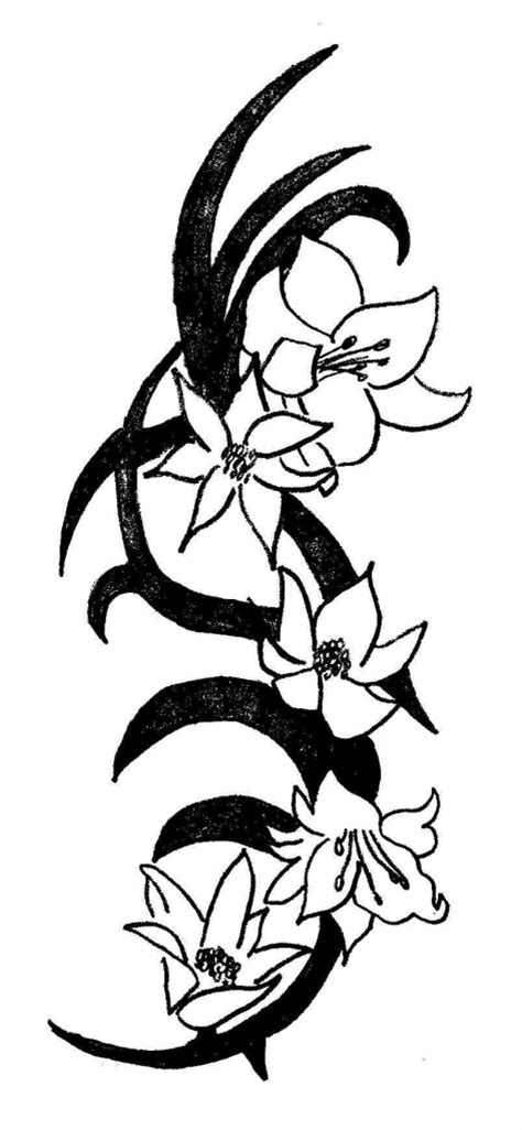 lily tribal tattoos tribal lily tattoo sketch fresh 2016