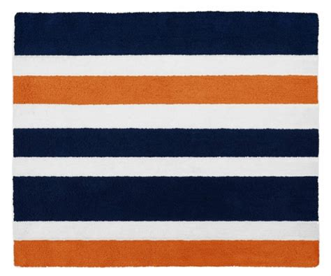 Orange And Navy Rug by Navy Blue And Orange Stripe Accent Floor Rug By Sweet Jojo Designs Only 44 99