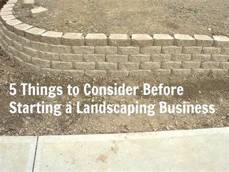 5 things to consider before starting a landscaping