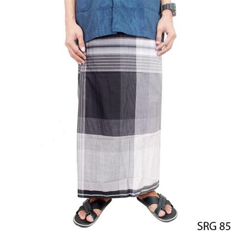 Celana Sarung Dewasa Putih sarung sholat dewasa katun hitam putih srg 85 gudang