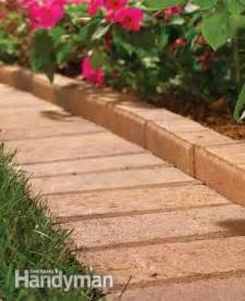 charcoal brick edging patio