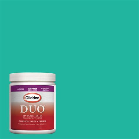 teal paint colors home depot glidden duo 8 oz hdgb01 bright teal