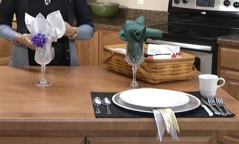 how to fold a napkin into a fan easy napkin folding video dinner napkin fold