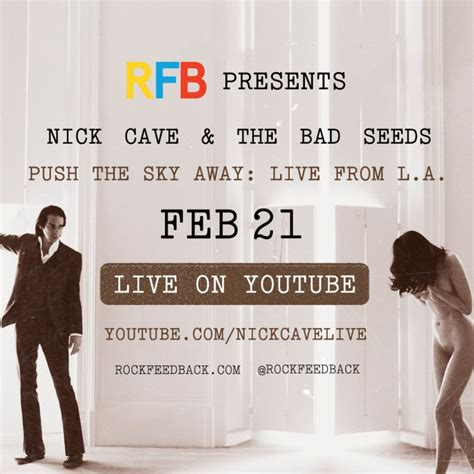 the bad seed book trailer live streamed performance from la nick cave