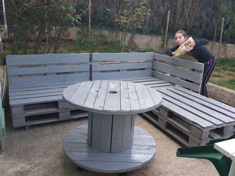 Fabriquer Sa Piscine En Bois Soi Meme 2648 by Banc En Palettes Et Table En Touret Id 233 E Jardin