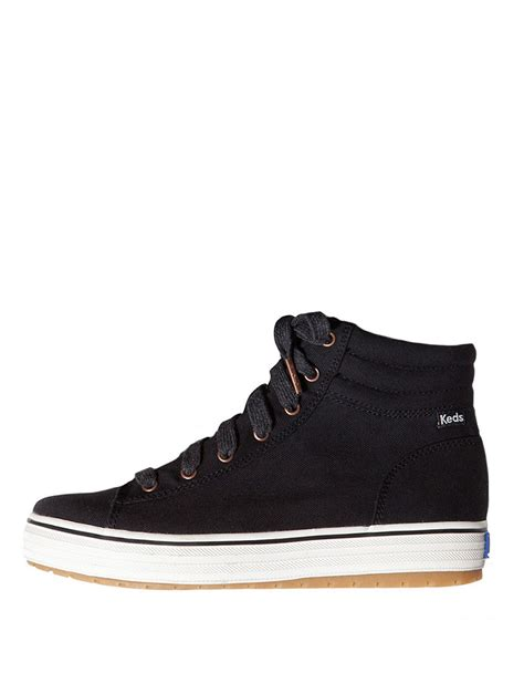 keds hi rise canvas high top sneakers in black lyst