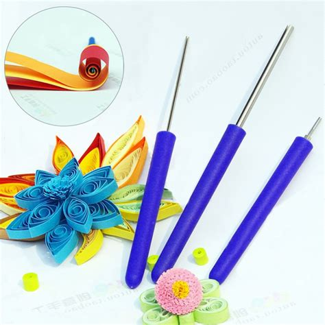 Tools For Paper - 3pcs set quilling paper tool slotted paper rolling pen diy