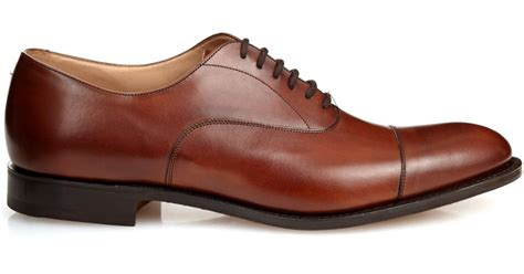 oxford shoes brown church s dubai leather oxford shoes in brown for lyst