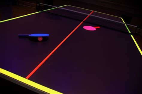 Blacklight Pong Table by Ping Pong Table