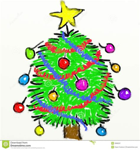 childs christmas tree stock illustration illustration of