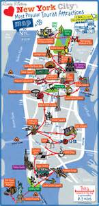 map of tourist attractions new york map tourist attractions travelsfinders