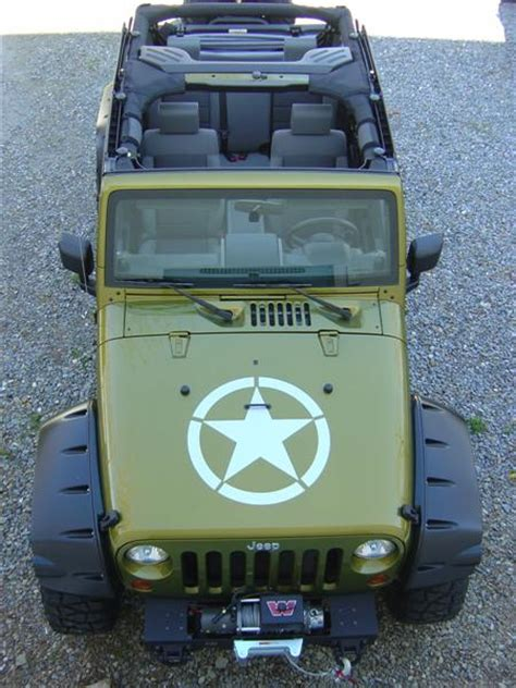 jeep army decals army decal source and color jk forum com the top