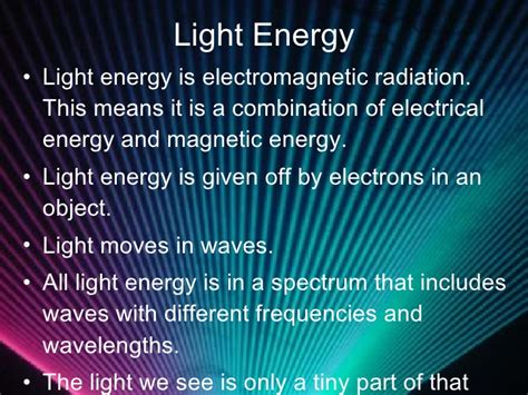 what is light light energy