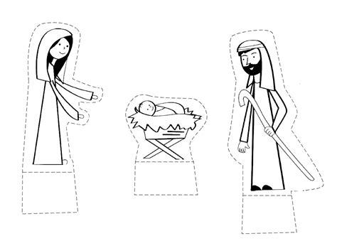 dibujos navideños para colorear portal belen divertido portal de bel 233 n para recortar y colorear