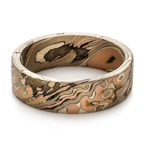 mens custom wedding rings custom s mokume wedding band 100673