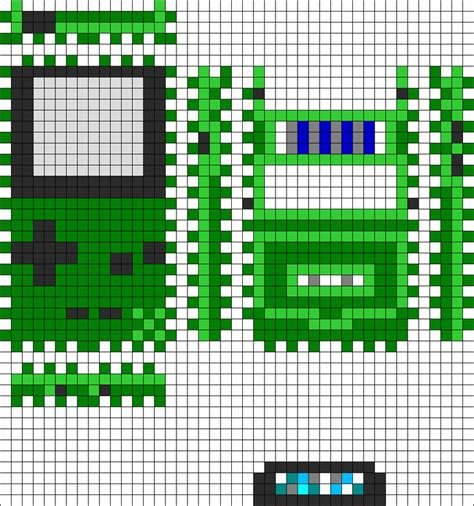 pattern game ideas 3d game boy color with cartridge perler bead pattern