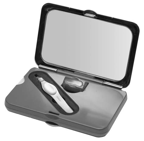compact mirror with light simply smart compact mirror with tweezers lighted