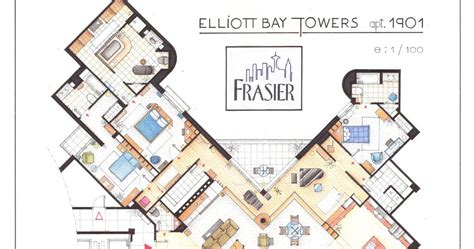 frasier apartment floor plan southgate residential tv and houses dr frasier crane s apartment