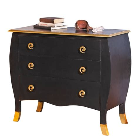 Black And Gold Chest Of Drawers by Royal Vintage Chest Of Drawers Baroque Style In Black And