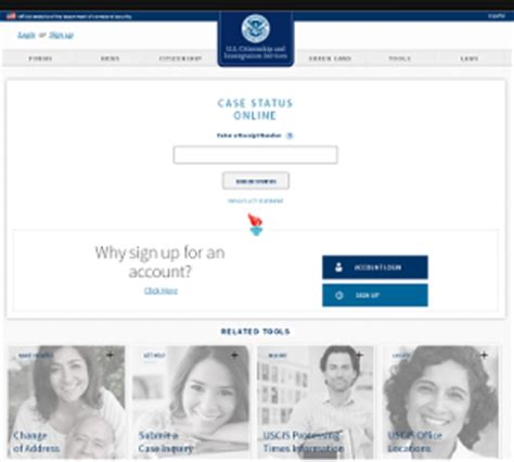 Uscis My Status Search Page How To Check Uscis Status