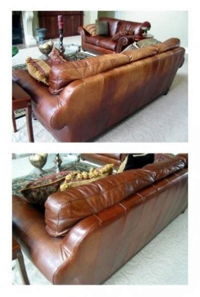 restore color to leather couch before and after color glo kc